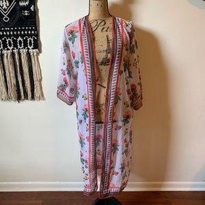 H&M Floral Kimono Coachella Collection